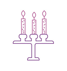 birthday chandelier with candles decoration vector image