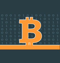 bitcoin crypto currency symbol vector image