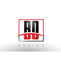 Bo b o logo letters with red and black colors and vector