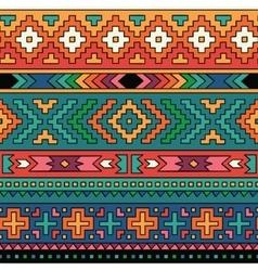 Bright folk ornamental textile seamless pattern vector