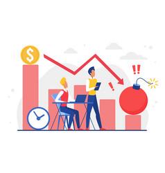 Business economy future damage financial storm vector