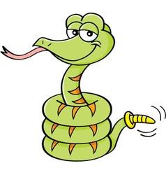 Cartoon rattle snake vector