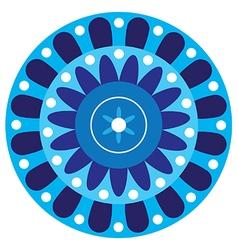 Circular flower pattern vector