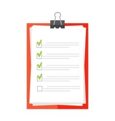 Clipboard document checklist test vector