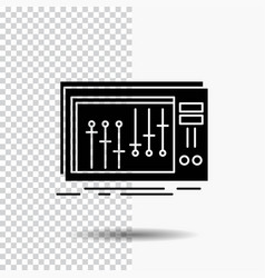 console dj mixer music studio glyph icon on vector image