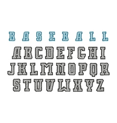 Decorative serif font in style hand drawn vector