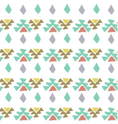 Ethnic pattern aztec geometric background vector