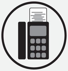 Fax device icon monochrome black white vector image