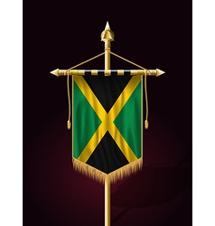 Flag of jamaica festive vertical banner vector