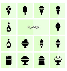 Flavor icons vector