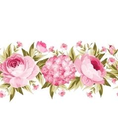 Floral gerland line vector