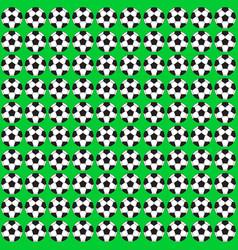 football ball seamless pattern vector image