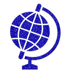 globe icon grunge watermark vector image