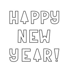 Greeting card happy new year vector
