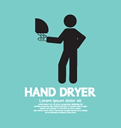 Hand Dryer Machine In Public Toilet vector image