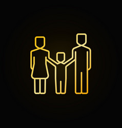 Happy family yellow icon vector