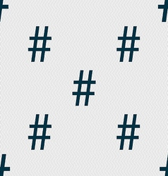 Hash tag icon Seamless abstract background with vector