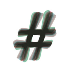 Hashtag sign colorful icon vector