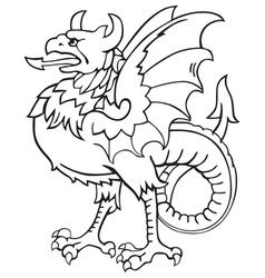 Heraldic dragon No7 vector