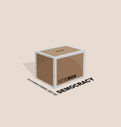 international day democracy design with vote vector image