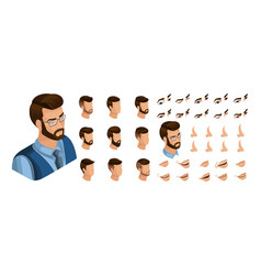 isometric create emotions for business man vector image