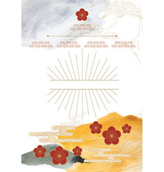 japanese background with watercolor texture vector image