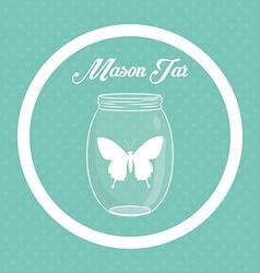 Jar mason design vector image