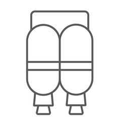 Jetpack thin line icon astronomy and technology vector