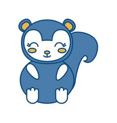 Kawaii squirrel icon vector
