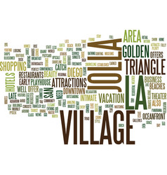 La jolla village text background word cloud vector