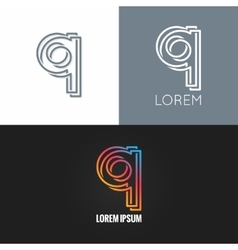 letter Q logo alphabet design icon set background vector image