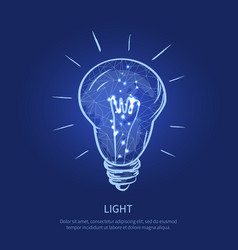 light electric bulb and text vector image