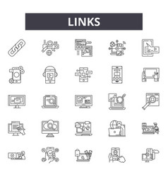 links line icons signs set outline vector image