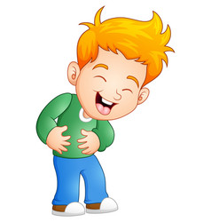 Little boy laughing out loud vector