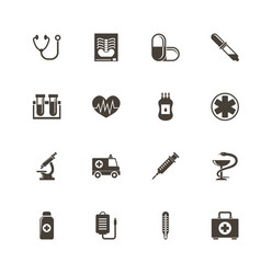 medical - flat icons vector image