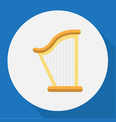 of audio symbol on harp flat vector image