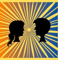 pair people vector image