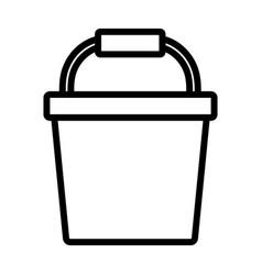 Plastic bucket clean handle icon line image vector