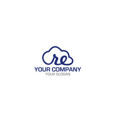 re cloud logo design vector image
