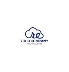 re cloud logo design vector image