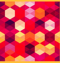 red color mosaic seamless pattern vector image