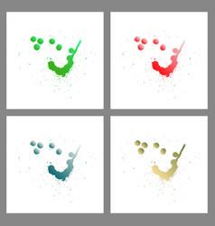 se of colorful paint splatterspaint splashes set vector image