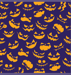 seamless minimal cartoon halloween pattern vector image