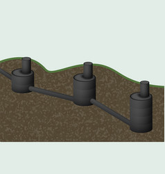 Septic tank sewage system vector