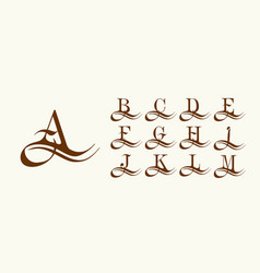 set 1 capital letters in style arabic vector image