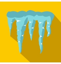 Spring icicles icon flat style vector