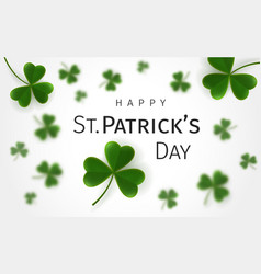 st patricks day greetings card with flying clover vector image