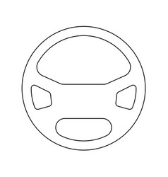 steering wheel the black color icon vector image