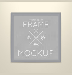 Template of square frame with poster vector