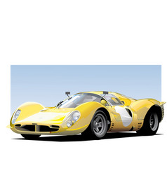 yellow sportscar vector image